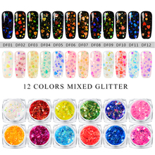 Mtssii Nail Art Sequin Mixed Sequins for Nails Symphony Pail