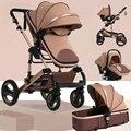 Wisesonle детская коляска 2 в 1 Складная Лампа четыре сезона многофункциональная 3 в 1 высокая Ландшафтная коляска Россия Бесплатная доставка