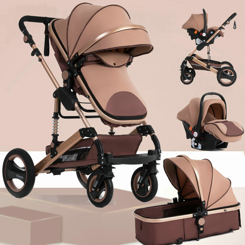 Wisesonle Baby Stroller 2 In 1 Folding Light Four Seasons Multifunction 3 In 1 High Landscape Stroller Russia Free Shipping