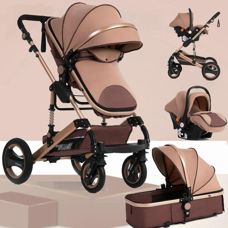 Wisesonle baby stroller 2 in 1 Folding light four seasons Multifunction 3 in 1 High Landscape stroller Russia free shipping