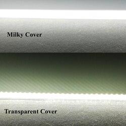 6 unids 57 cm 70 unids SMD2835 8 W AC220v de alto brillo de luz LED Barra de Gaza sin conductor de tubo LED blanco frío de la Vía Láctea de la cubierta transparente