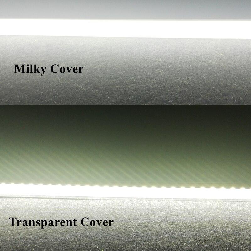 6pcs 57cm 70pcs SMD2835 8W AC220v High Brightness LED Light Bar Strip Driverless LED Tube Cold White PVC Milky Transparent Cover