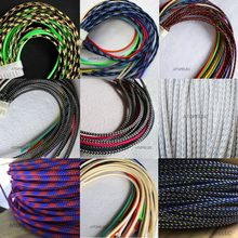 3mm Breed TIGHT Gevlochten PET Expandable Sleeving Kabel Draad Schede Zwart/Zilver/Goud/Rood/Oranje /geel/Blauw/Wit/Clear(China)