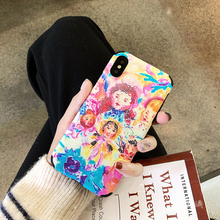 LISM Colorful Kids Emboss Silk TPU Phone Case Cover For iPhone 6 6S 7 8 Plus X XR XS Max Anti-knock Protector Casing