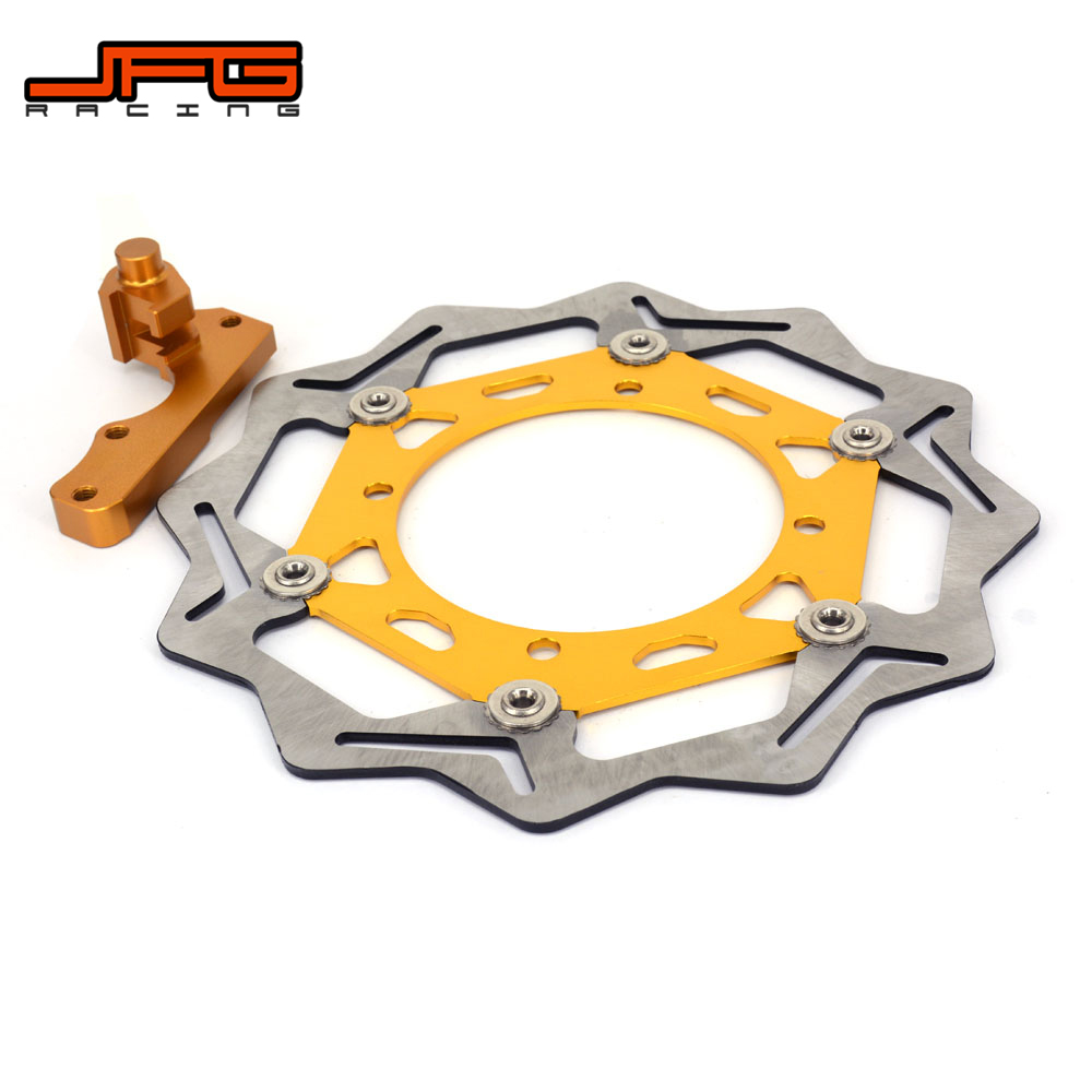 270mm Front Floating Brake Disc Rotor + Bracket For SUZUKI RMZ250 RMZ 250 2007-2015 RMZ450 RMZ 450 2005-2015 RMX450 2010-2012 punk style solid color hollow out rhinestone leaf shape pendant necklace for women