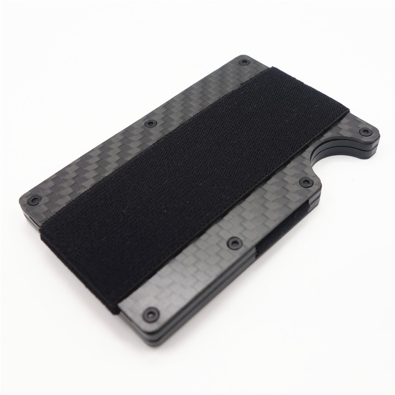 Carbon Fiber Slim Aluminium Credit Business Card Holder NFC Anti ...