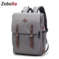Zebella Laptop Men S Backpacks Bolsa Feminina Mochila Students Bagpack Swiss Kanken Fabric Vintage Escolar Women