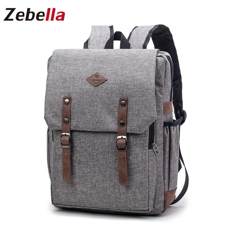 Zebella Laptop Férfi hátizsákok Bolsa Feminina Mochila diákok Bagpack Svájci Kanken szövet Vintage Escolar nők utazási hátizsák