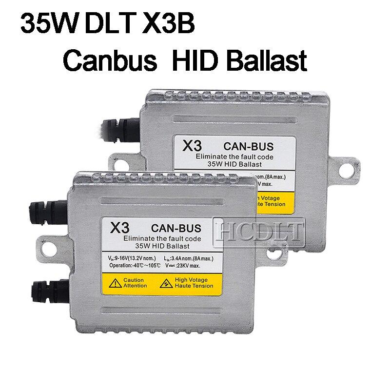 HCDLT AC 35W Xenon Canbus HID Ballast For Car Light Xenon HID Conversion Kit DLT X3 Canbus Error Free Digital Ballast Reactor (2)