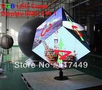 Полноцветный SMD 3 в 1 LED кубического отображения, rgb 4 мм, 5 мм, 6 мм, 10 мм Серьги светодиодный экран, творческий RGB кубический светодиодная вывеск