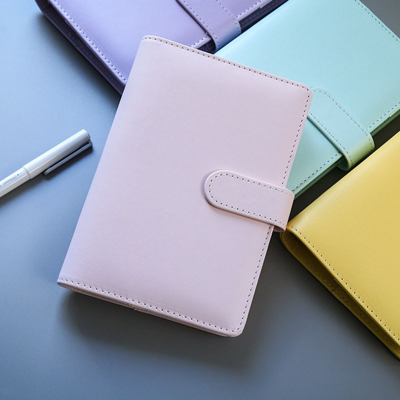 PU Leather A5 A6 Notebook Diary Schedule Book Planner Diary Loose-leaf Binder Cute School Supplies(China)