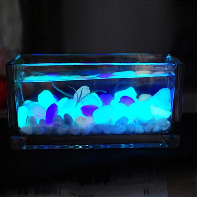 10 шт. искусственные камни, камни светится в темноте, украшение для дома, светящиеся камни, садовый аквариум, украшение для аквариума
