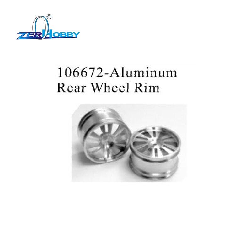 PART NO. 106672 ALUMINUM REAR WHEEL RIM AND PART NO. 106673 FRONT WHEEL RIM FOR HSP 1/10 NITRO OFF ROAD BUGGY CAR 94105 94106 plastic front rear wheel rim tire for rc car 1 10 buggy off road car hsp himoto hpi traxxas redcat 06008 06101 06024 06102