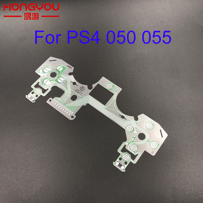 10pcs JDS 055 Conductive Film Replacement Controller Button Ribbon Circuit Board For Play Station 4 PS4 Pro JDS 050 Controller