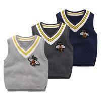 Đan mẫu miễn phí bé vest Mùa Đông ấm bé áo thời trang trẻ em vest Toddler vest 18M-7year Áo Len vest boy 3 màu
