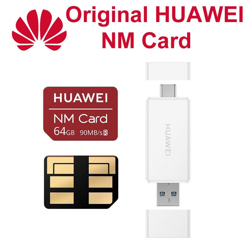 Huawei NM Card 90MB/s 64GB/128GB/256GB For P40 Pro P30 Pro Mate 30 Pro Mate20 X Nova 5 Pro USB3.1 Nano Memory Card Reader