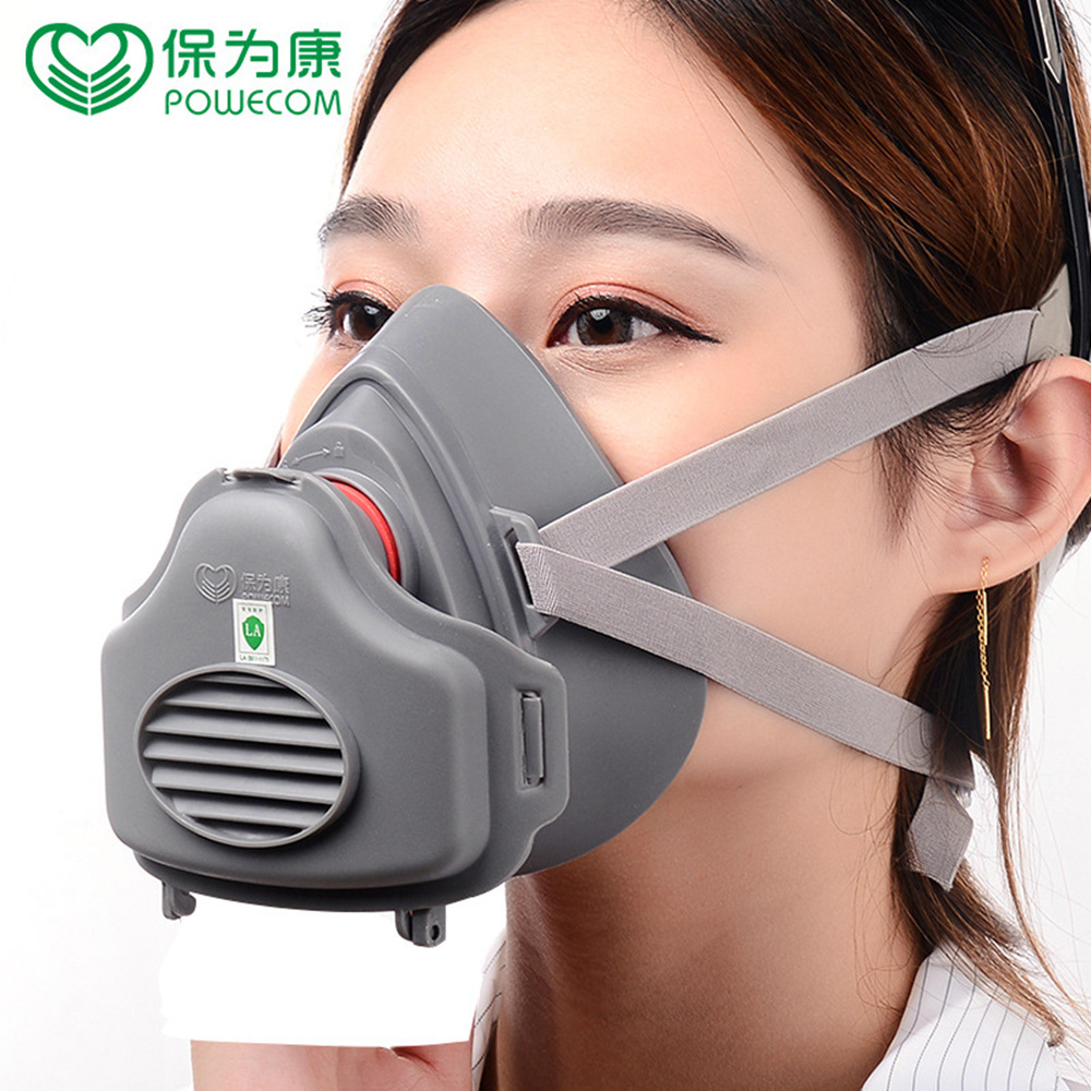 POWECOM KN95 Dust Mask Respirator Anti Dust Grinding Fiber Half Mask Coal Mine Sanding Paint Protection Filter Protection Set