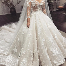 Eslieb High-end Custom made Ball Gown Wedding dress 2019