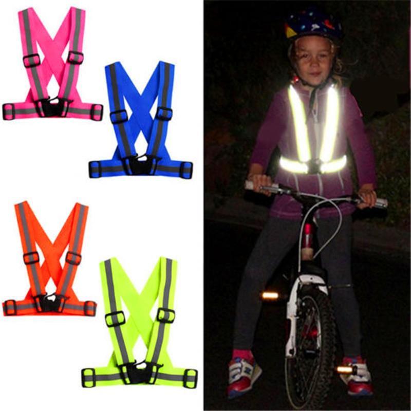 Unisex Multipurpose Cycle Visibility Reflection Led Flash Bike Vest Adjustable Running Cycling Reflective Safety Vest Hiking Vests
