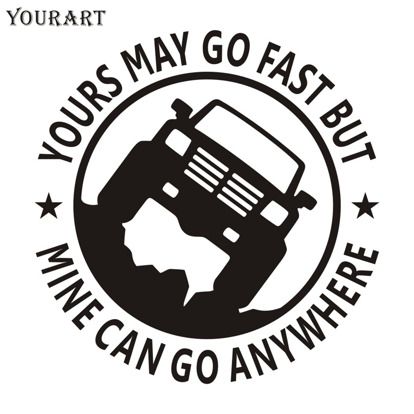 Yourart 4x4 Vinyl Car Sticker Funny Van Trunk SUV Pickup 4X4 OFF ROAD 4WD Car Stickers and Decals for Jeep Nissan Ford Toyota car