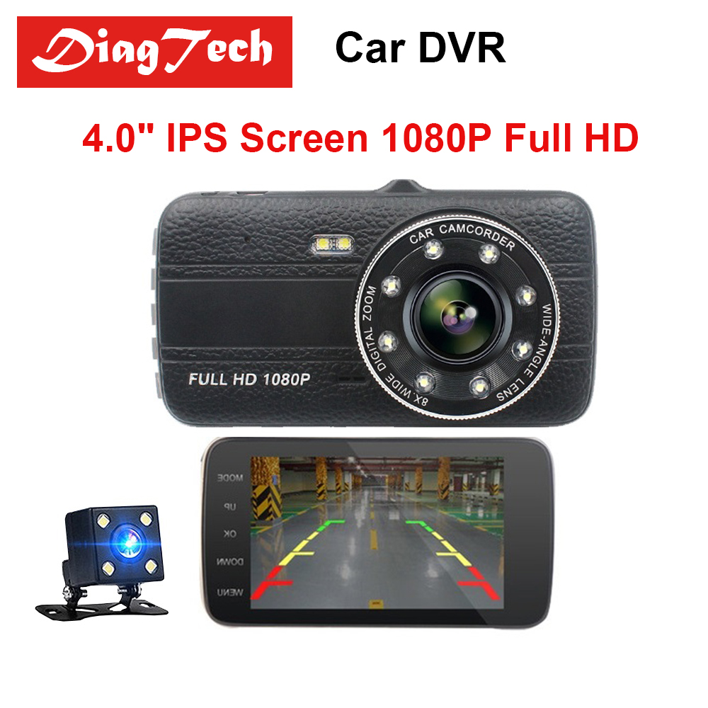 Best Quality 4 Inch Car DVR IPS Screen Dual Len Full HD 1080P Rearview Mirror Camera Auto Recorder Dashcam Night Vision G-sensor цены