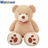 1 unid 100 cm americano oso gigante casco, oso de peluche de alta calidad bajo precio Popular regalos de cumpleaños para las muchachas, juguete del cabrito
