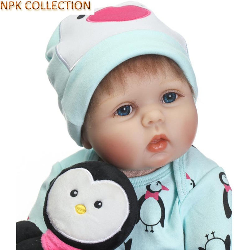 купить NPKCOLLECTION 50CM Reborn Dolls Babies Boneca Real Dolls Baby Toys Brinquedos,20 Inch Silicone Reborn Dolls Cotton Body Soft Toy по цене 5992.62 рублей