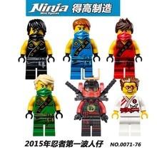 Decool 0071-0076 Ninja Jay/Cole Spinjitzu Minifigures Building Block Minifigure Toys Kids Toy Compatible with Legoe