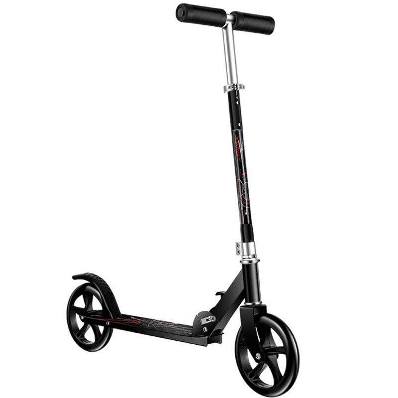 HOOMORE mode Scooter Skate Cycle Hoverboard planche à roulettes 2 roues deux hauteur réglable adulte enfants coup de pied pliable roue 200mm - 4