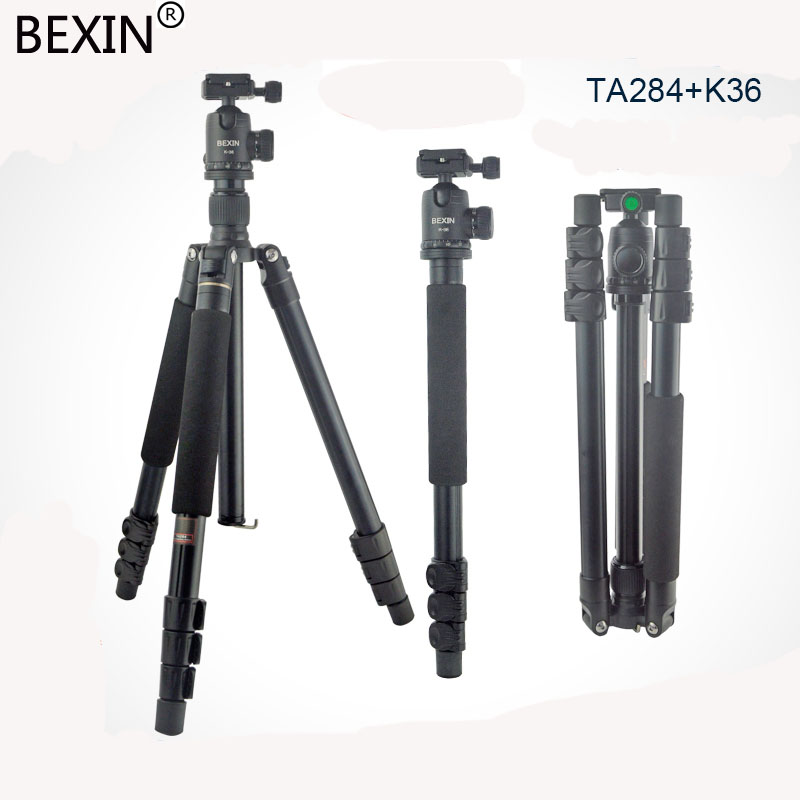 Professional Portable Photographic Travel Compact Tripod +ball head & Monopod For DSLR Camera / Aluminum SLR camera stand ashanks a666 aluminum camera tripod with professional video ball head portable for photographic dslr camera 8kg 142cm 55 9
