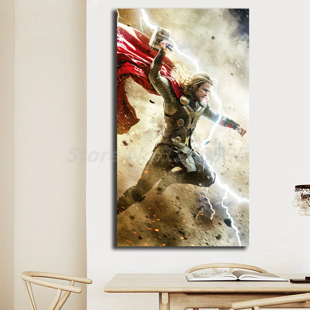 wallpaper of thor 2 dark world hd wall art canvas poster and print