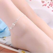 1 PC Hot Summer Beach Tornozelo Infinito Cor Prata Tornozeleiras Jóias Pé tornozelo pulseiras para as mulheres Melhor Presente