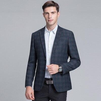 light Hxh227 Slim Tinteen Blue Blue Dark Et Jeunes De Costume Casual D'affaires Unie Hommes D'âge Veste 2019 Couleur Moyen 7xWqR6F7Tw
