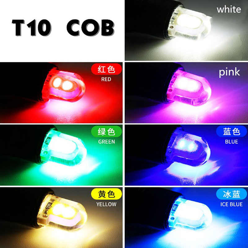 1pcs T10 LED lamps for cars W5W 194 168 COB 8SMD Auto Wedge Clearance Lamp CANBUS Silica Bright White License Lights