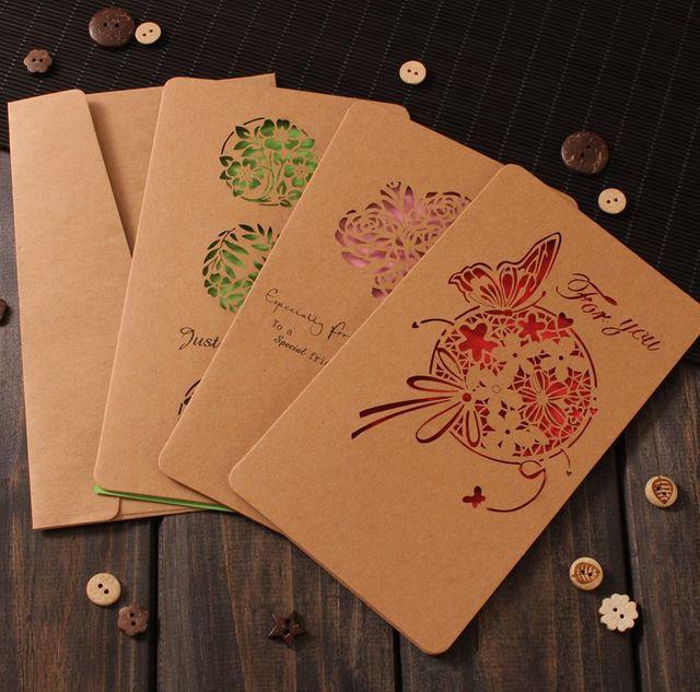 6 Teile/los Mode Europa Schmetterling Geburtstag Hochzeit Weihnachtsfeier  Festivals Business Gruß Einladung Papier