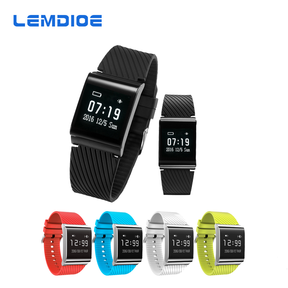 LEMDIOE X9 Plus Heart Rate Smart Bracelet Blood Pressure Oxygen Monitor Smart Band Wristband for Android