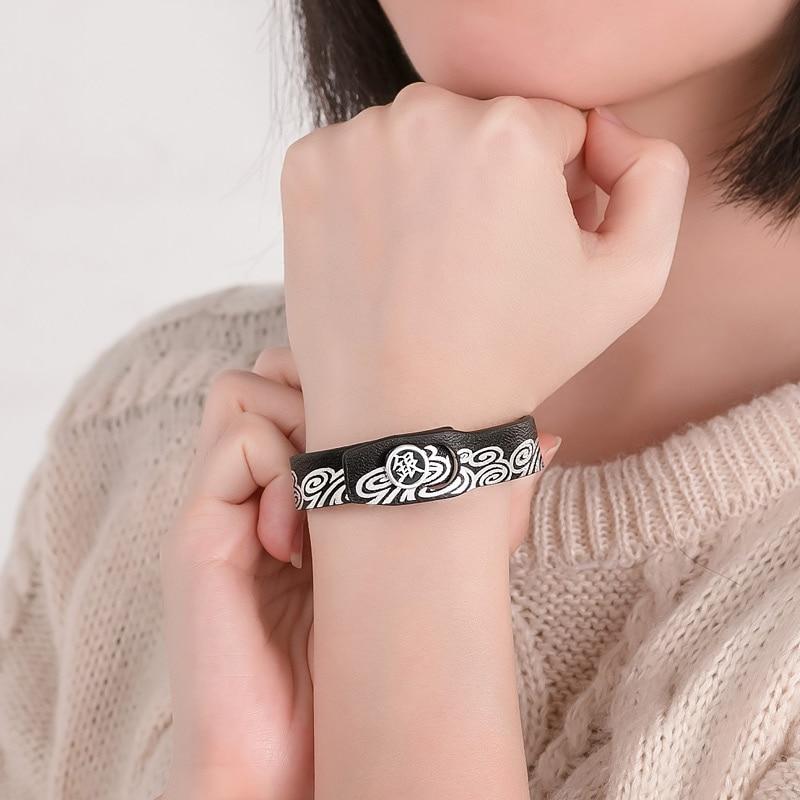 GINTAMA Sport Wristband PU Կաշվե ստերլինգ արծաթ 925 - Խաղային արձանիկներ - Լուսանկար 5