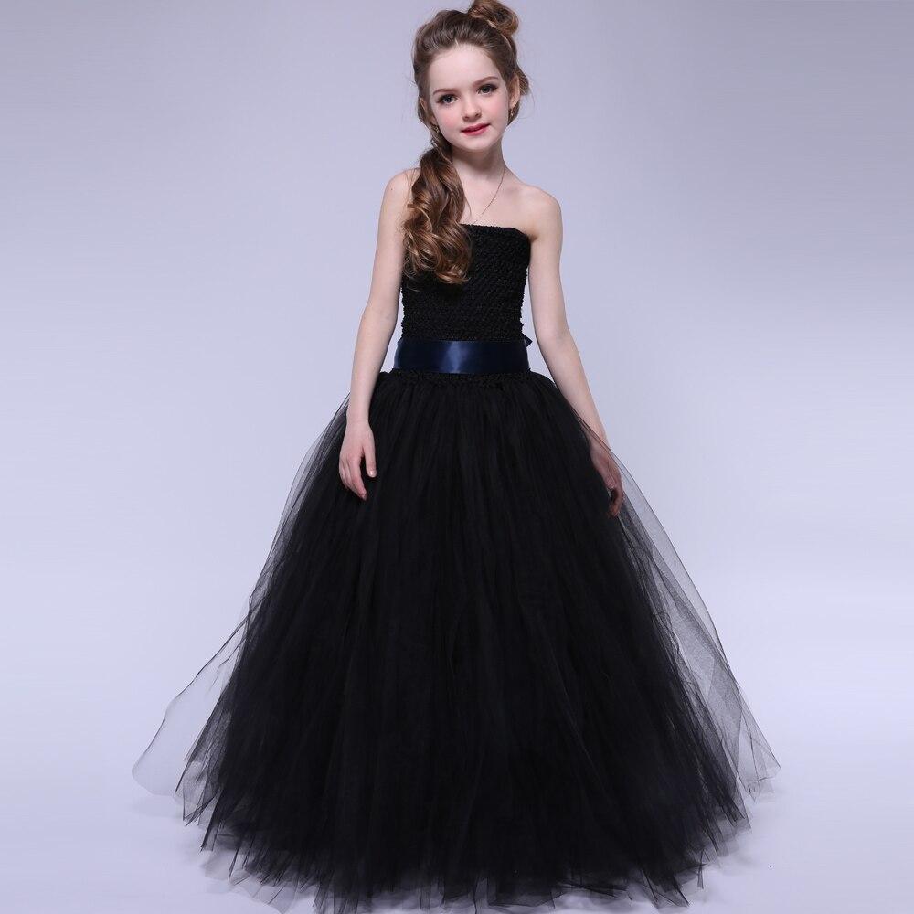 Handgemaakte meisjes avond prom tutu jurk met lintbandjes Elegante - Kinderkleding