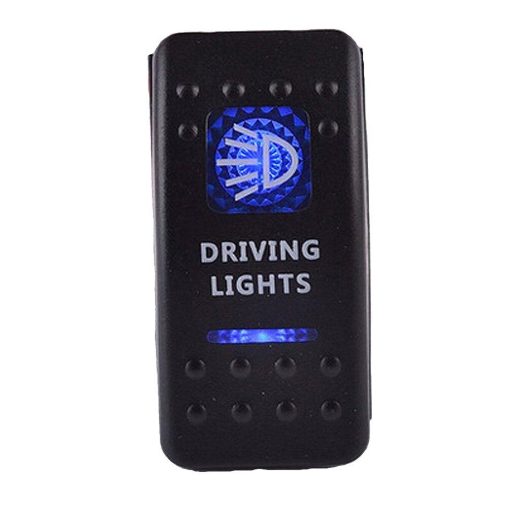 Lighted Rocker Switches: Waterproof Bar Carling Rocker Toggle Switch Blue LED Driving Light Car Auto Rocker  Switch Drop Shipping,Lighting
