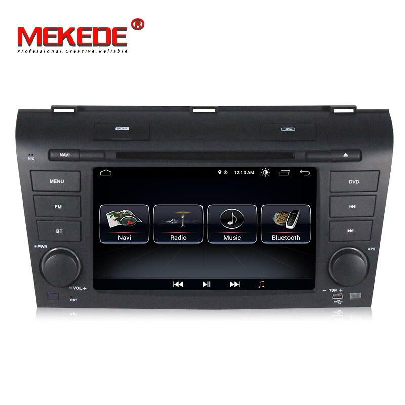 En gros! Quad core android 8.0 intelligent voiture gps navigation lecteur dvd pour Mazda 3 2003-2009 support bluetooth wifi 3g caméra dvr