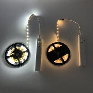 Image 2 - Беспроводной ночник с датчиком движения, 1 м, 2 м, 3 м, с питанием от аккумулятора, под кроватью, для шкафа, шкафа, для лестниц коридора