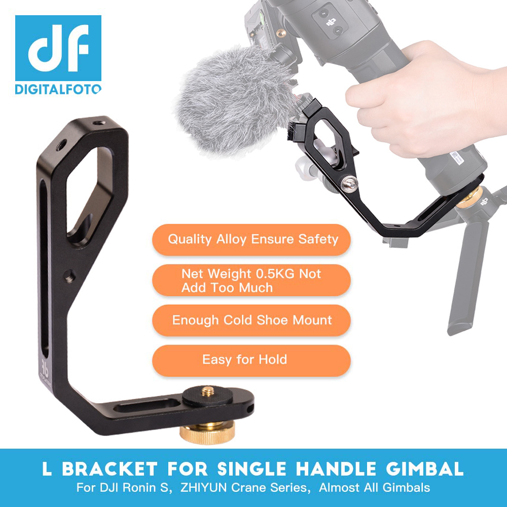 L bracket with 3 hot shoe mount Handle magic arm for <font><b>gimbal</b></font> attach monitor Mic zhiyun crane 2/MOZA/<font><b>feiyu</b></font>/Dji Ronin S Ronin SC image