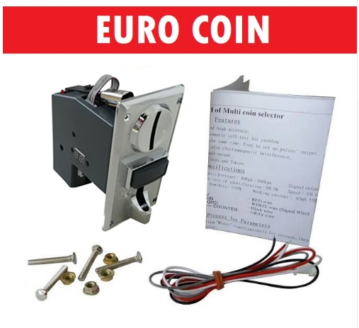 EURO 10,20,50, 1,2 JY926A pulse output multi coin selector acceptor for 6 different coins for vending machine, game machine