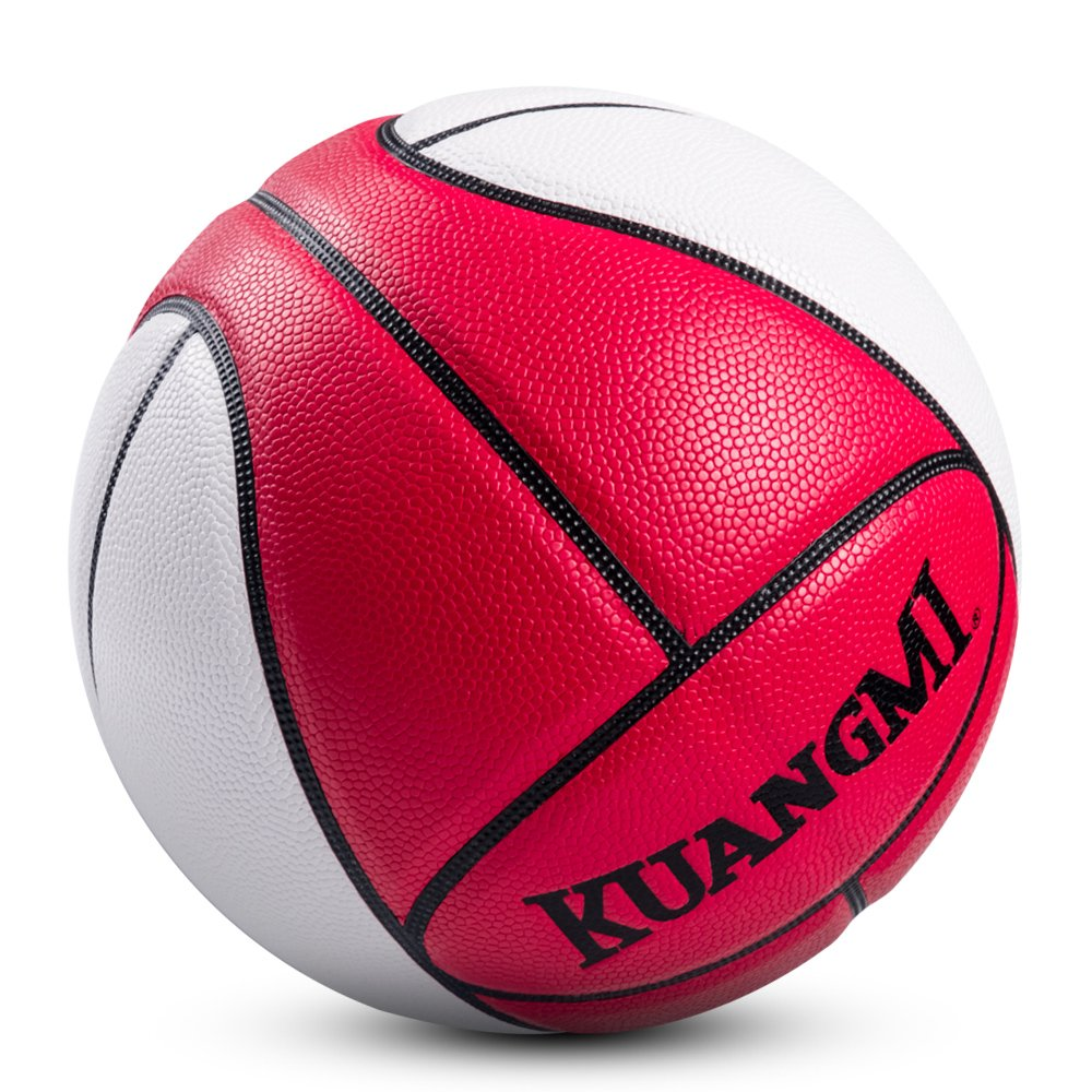 Kuangmi 2017 NEW product release Face design Basketball ball trainer Game PU Leather Basket accessoire de basket
