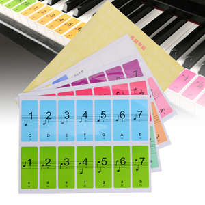 Colorful Piano Keyboard Sticke