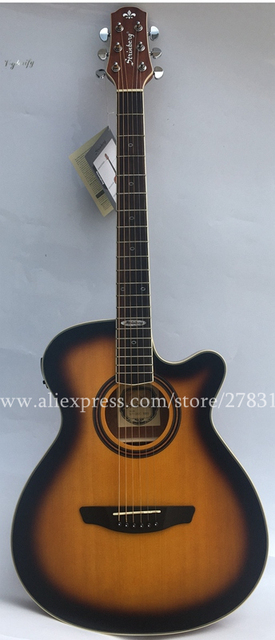 Thin Body Guitar 40 Cutaway Electric Acoustic Guitars Spruce Top