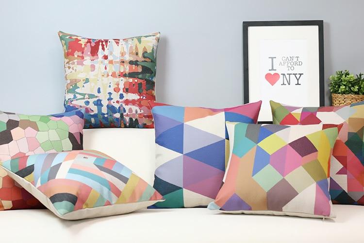 Einfache Pastelle Geometrische Kissen Kissen Moderne Farbe Kissen
