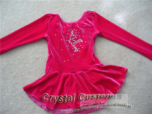 2016 Hot Selling Ice Figure Skating Dresses Custom With Spandex Graceful New Brand Ice Skating Dress Competition DR2618