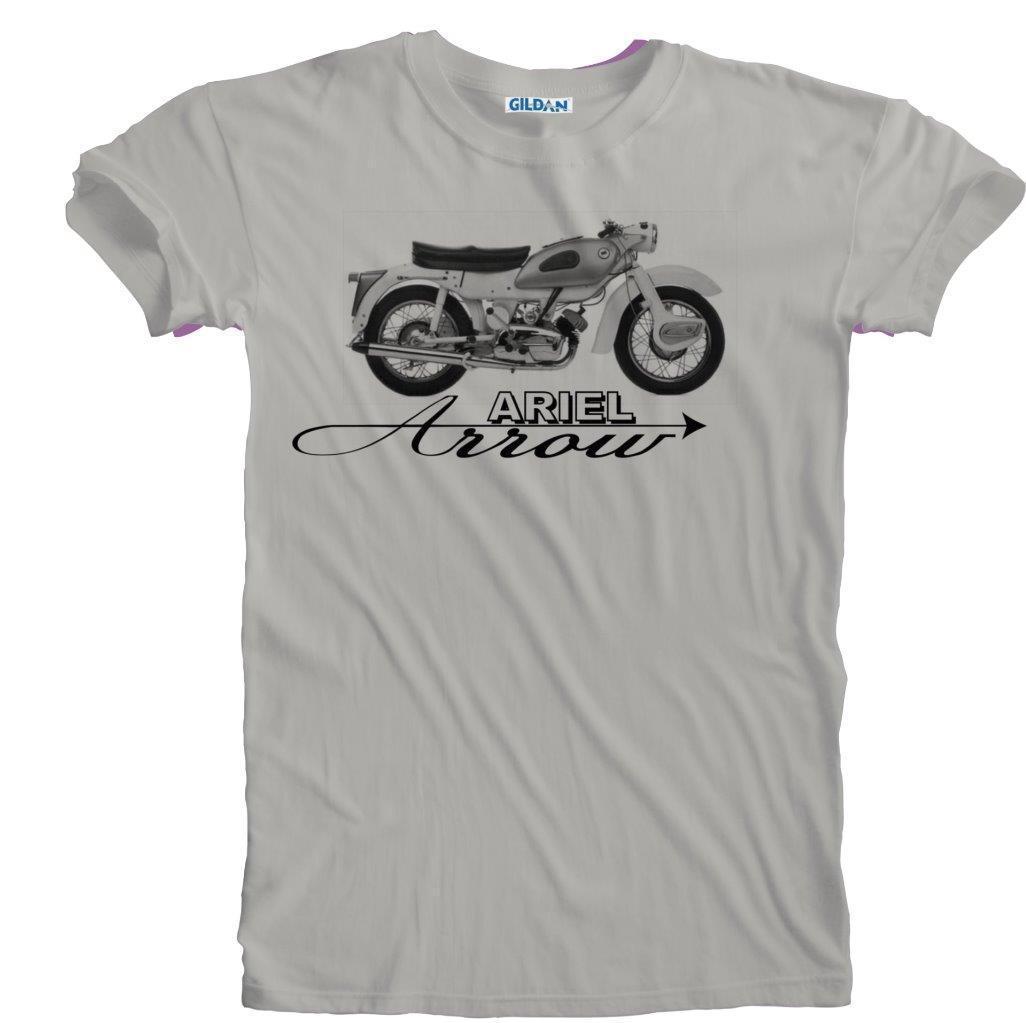 2018 New Men'S Retro Vintage Ariel Arrow Motorcycle Biker Detail Print T-