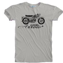 ¡Novedad de 2019! Camiseta Retro con estampado de detalle de motociclista Ariel Arrow tallas S a 5XL para hombre